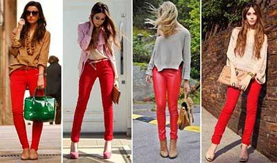 dicas de calças coloridas