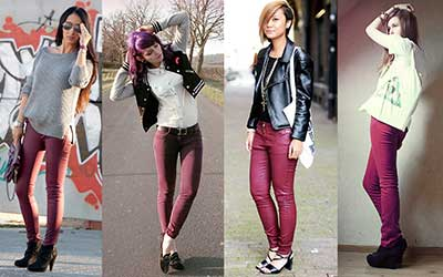 sugestões de calças coloridas