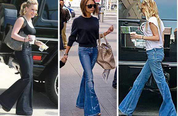 calças jeans da moda