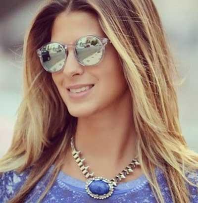 Oculos de Sol Feminino 2014 Espelhado Espelhados óculos Feminino