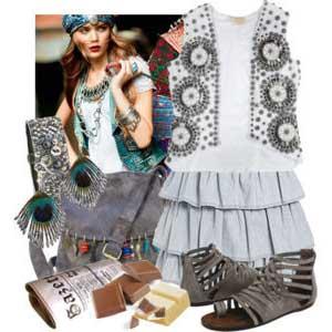 Imagens da Moda Hippie