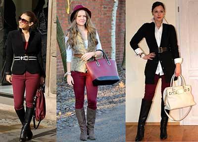 fotos de calças em várias cores