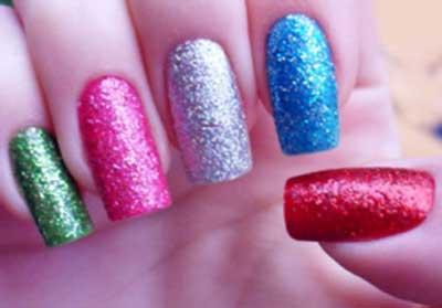 fotos de unhas com glitter
