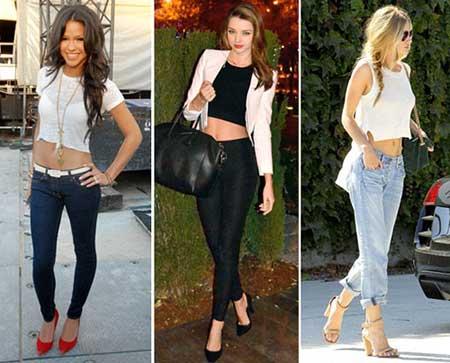 fotos de modelos de Blusas curtas