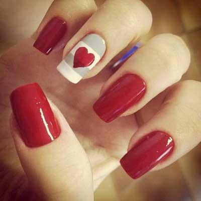 unhas com vermelho