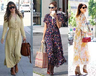 vestidos longos com estampas