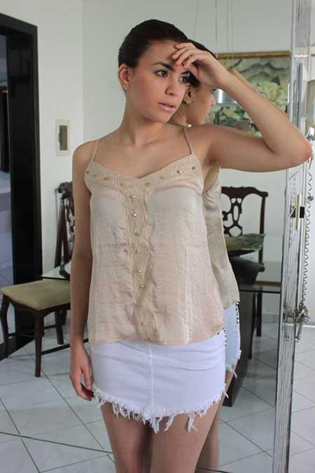 blusa de seda para festas