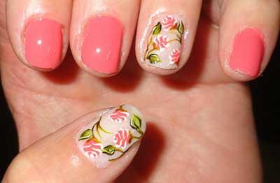 fotos de unhas com rosas