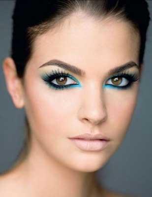 Maquiagem formanda vestido azul