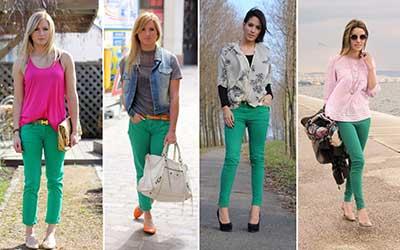 imagens de calças coloridas