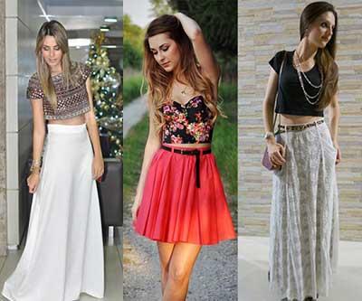 moda cropped com cintura alta