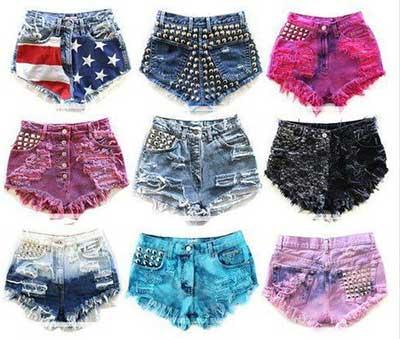 shorts diferentes
