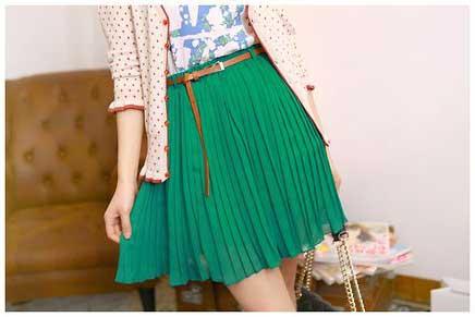 várias cores de saias