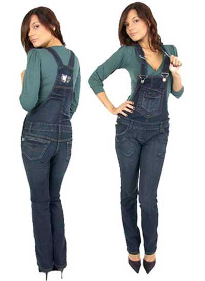 macacões jeans da moda