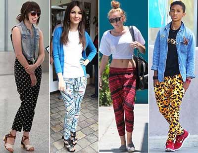 tendências de calças coloridas