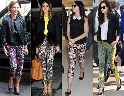 looks de calças coloridas