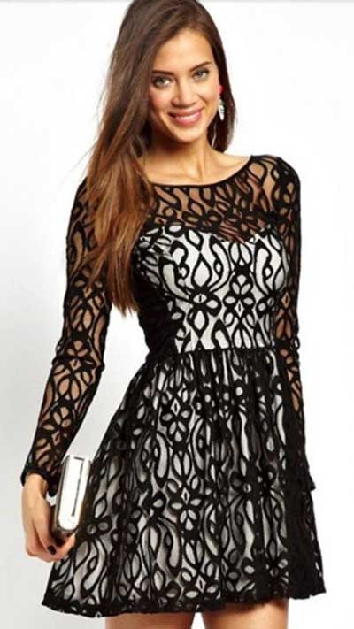 vestidos com renda da moda