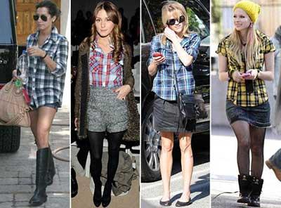 fotos de roupas xadrez