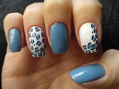 esmaltes azuis da moda