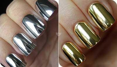 dourado e prata