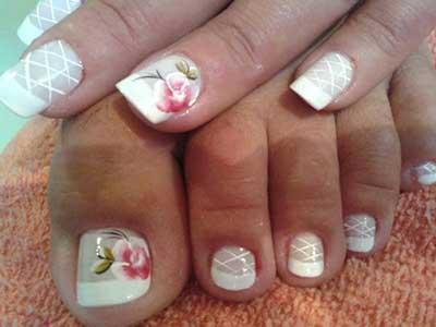 imagens de unhas com rosas