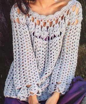 imagens de blusas de croche
