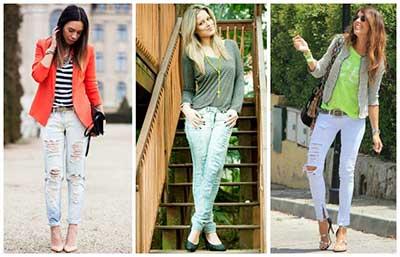 calças rasgadinhas da moda