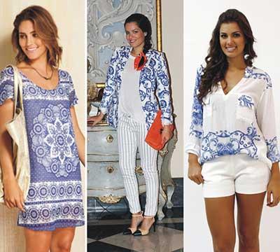 roupas com estampas de azulejo