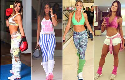 diversos looks fitness