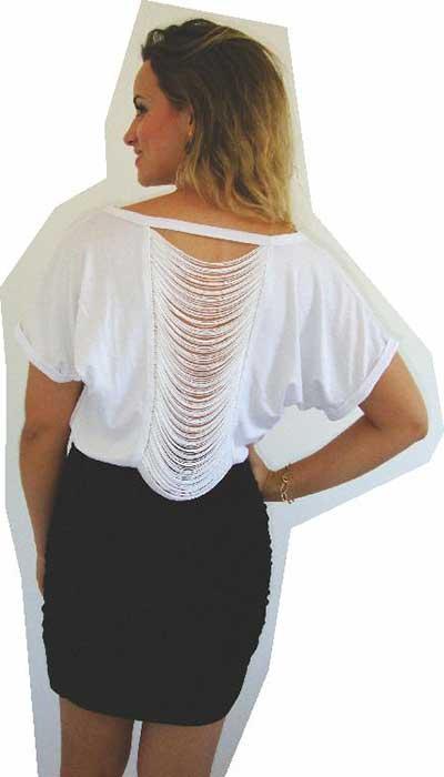 modelos de blusas com franjas