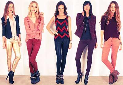 imagens de jeans coloridos