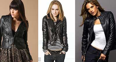 tendências de jaquetas de couro da moda