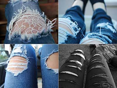 tendências de calças rasgadinhas