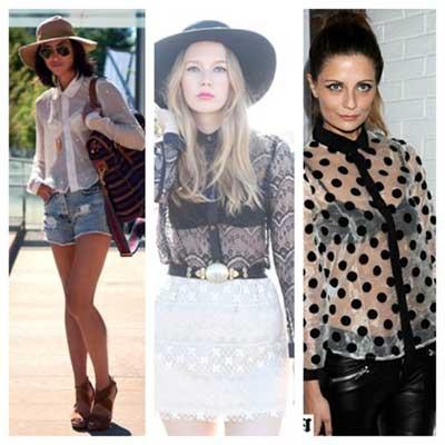 modelos de blusas transparentes inspiradores