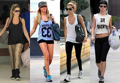 roupas e acessórios da moda fitness