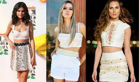 modelos de blusas curtas