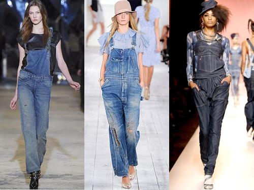 fotos de macacões jeans femininos