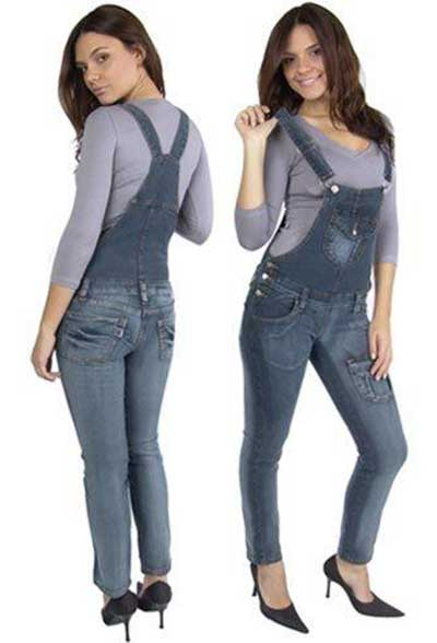 modelos de macacão jeans
