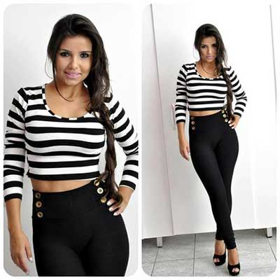 modelos de blusas cropped