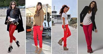 fotos de calças vermelhas