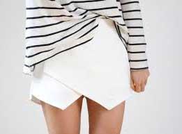 tendências de saias assimétricas