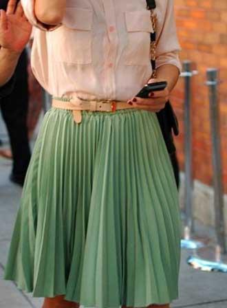 saias plissadas da moda