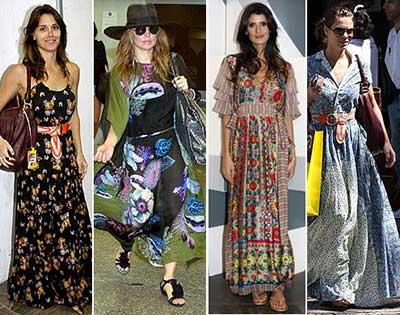 tendências de looks floridos