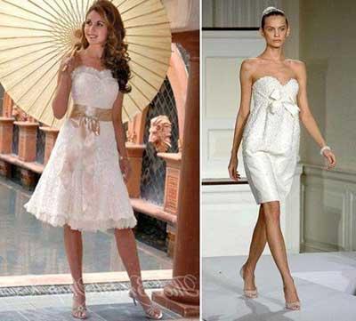 modelos de vestidos de noiva curtos