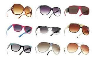 óculos de sol escuros