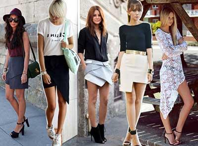 imagens de saias assimétricas