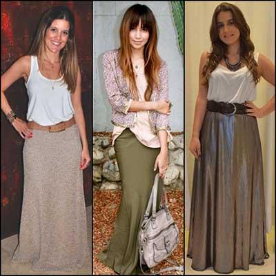 fotos de saias longas