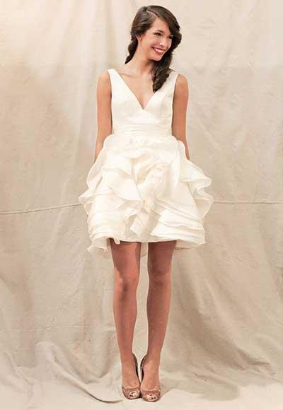 imagens de vestidos de noiva curtos