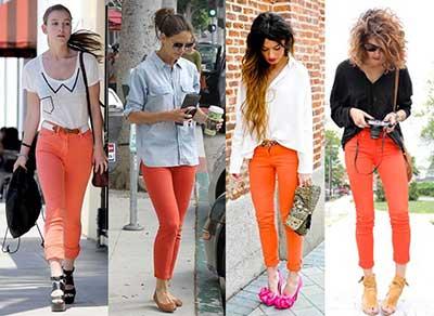da cor laranja