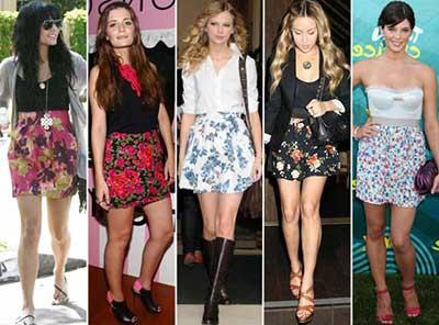 saias floridas